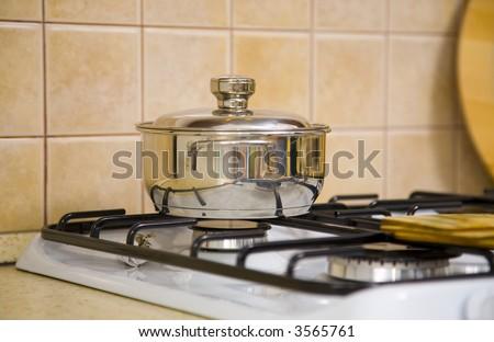 saucepan - stock photo