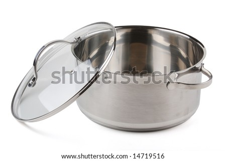 Saucepan iron on a white background