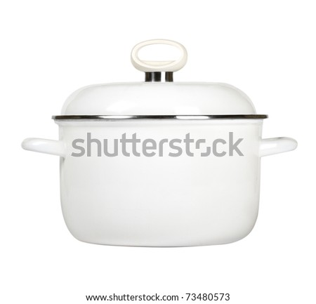 saucepan isolated on white
