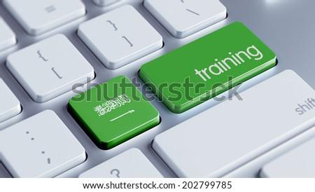 Saudi Arabia High Resolution Training Concept - stock photo