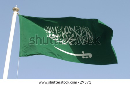 Saudi Arabian flag - stock photo