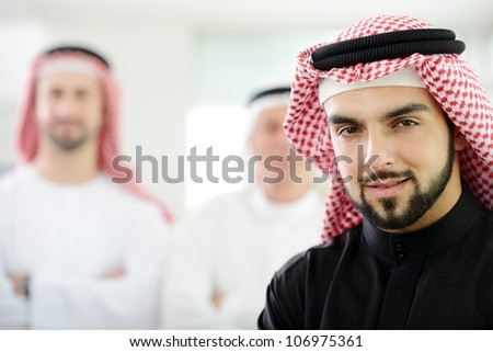 Saudi business man at work - stock photo