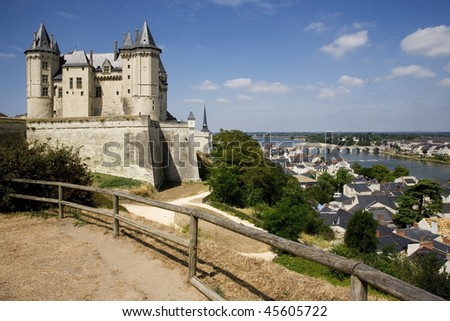 Saumur Castle, at Loire Valley (France)