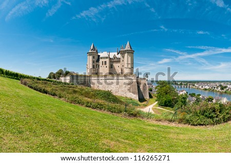 Saumur, Loire Valley, France - stock photo