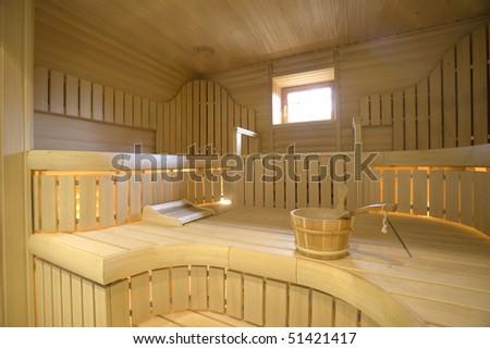 sauna - stock photo