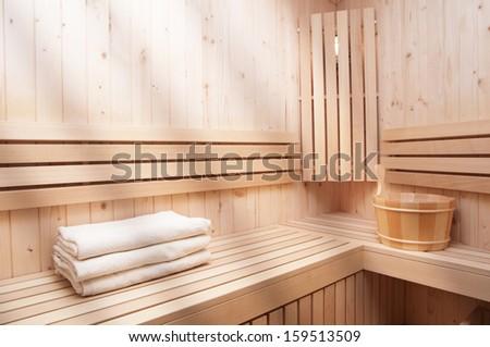 sauna accessories - stock photo