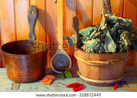 Sauna and Spa. Hygiene and health. - stock photo