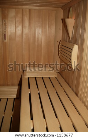 Sauna room in wood