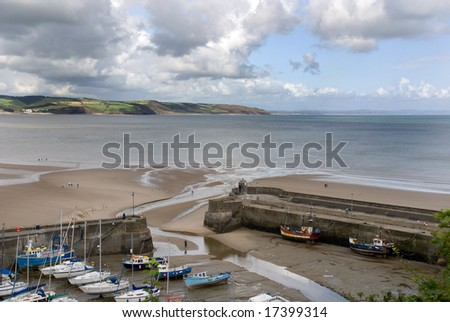 Saundersfoot. A seaside resort town in Pembrokeshire, Wales. Saundersfoot is a fishing village located in the heart of the Pembrokeshire Coast National Park. - stock photo