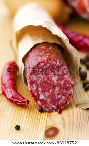 sausage - stock photo