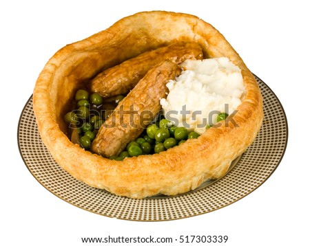 Sausage and Mash in a Yorkshire Pudding