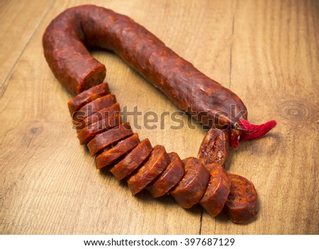 Sausage appetizer - stock photo