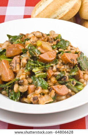 Sausage, Beans and Collard Greens