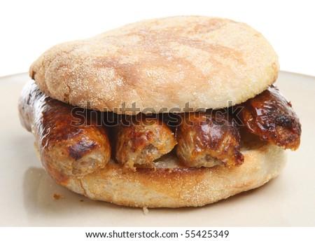 Sausage muffin. - stock photo