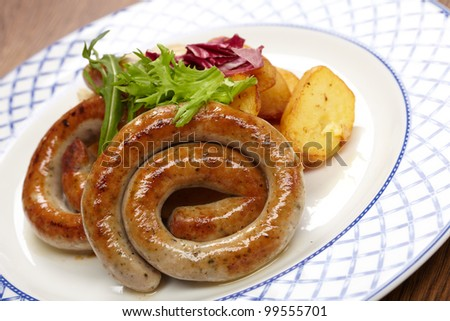 sausages and potatoes