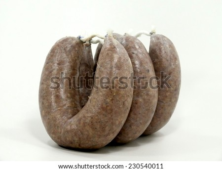 sausages rings - stock photo