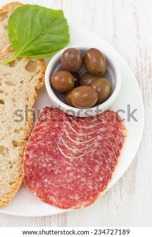 sausages with bread