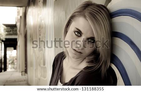Savaged Youth - stock photo