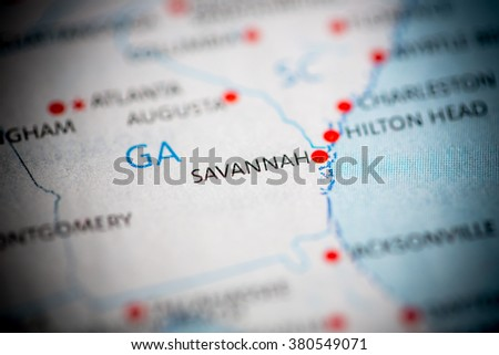 Savannah. Georgia. USA - stock photo