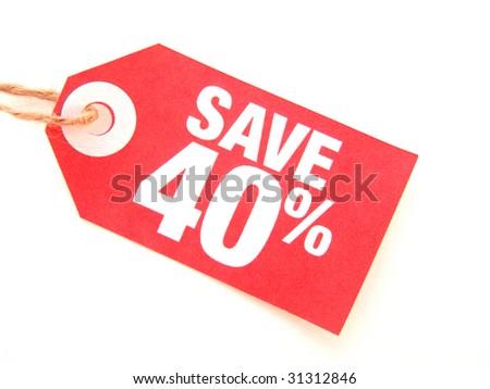 save 40% - stock photo