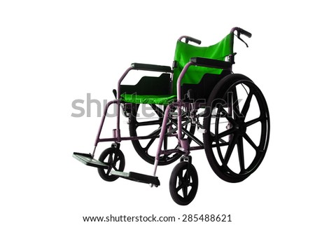 Save clipping path, colorful Wheelchair service in airport terminal - stock photo