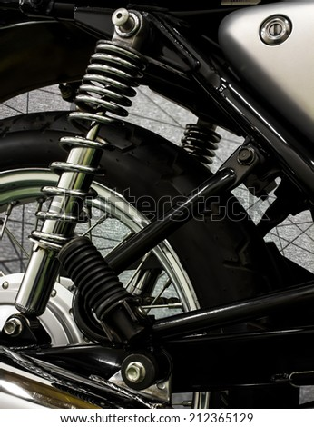 Save clipping path this file, vintage Motorcycle detail - stock photo