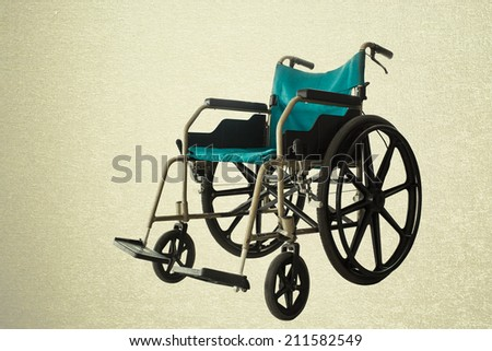Save clipping path, Wheelchair service in airport terminal - stock photo