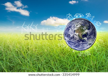 Save earth concept,,Elements of this image furnished by NASA.