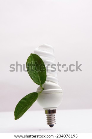 Save energy - stock photo