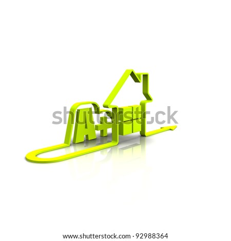 save energy and green house - stock photo
