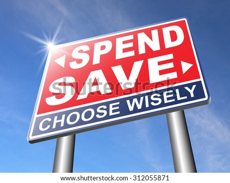 save for later plan ahead saving money in piggy bank savings now and spend later after crisis road sign arrow - stock photo