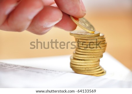 save money - stock photo