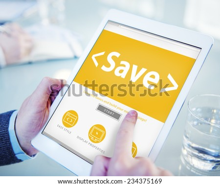 Save Money Banking Saving Accounting Business Concept - stock photo