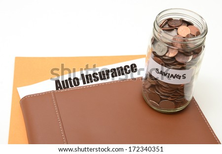 save money on auto or car insurance concept - stock photo