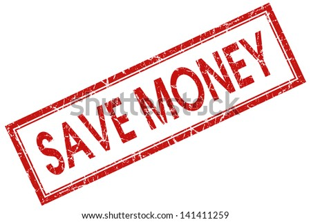 save money stamp - stock photo