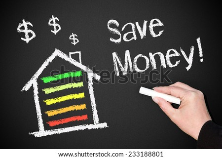 Save Money with Energy Efficiency at Home - stock photo