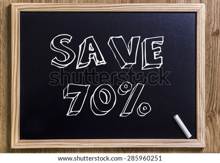 Save 70% - New chalkboard with 3D outlined text - on wood
