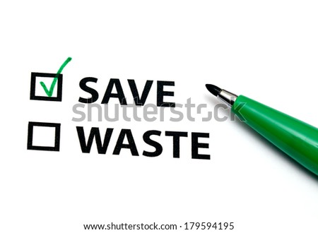 Save or waste - stock photo