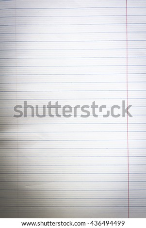Save Paths design work sheets lined frame Realistic white lined sheet crumpled Plan Writer Tear One Clean List Curl Open Text Old Ook Card Diary Space Shape Cover Corner Study Retro Record Office Memo - stock photo