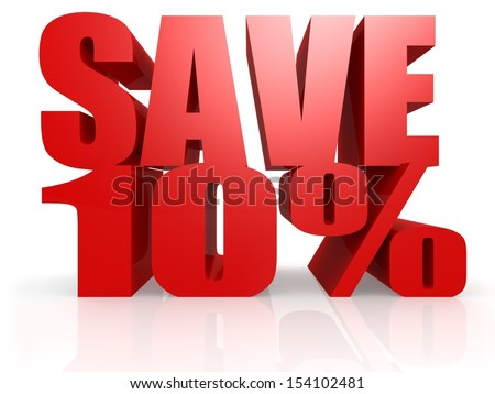 Save 10 percent - stock photo
