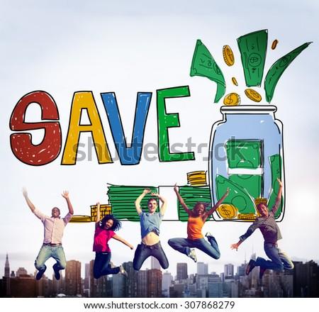 Save Saving Investment Finance Money Concept - stock photo