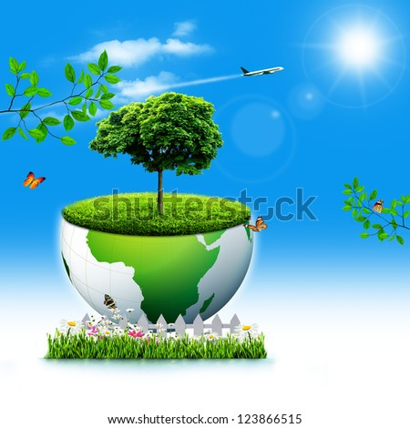 Save the Earth. Abstract Eco backgrounds for your design - stock photo