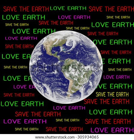 save the earth concept (Elements of this image furnished by NASA) - stock photo
