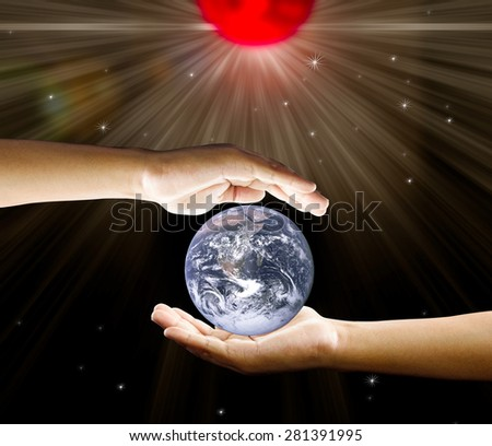Save the Earth Elements of this image furnished by NASA - stock photo