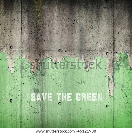 Save the green. Concept image for vanishing forests.