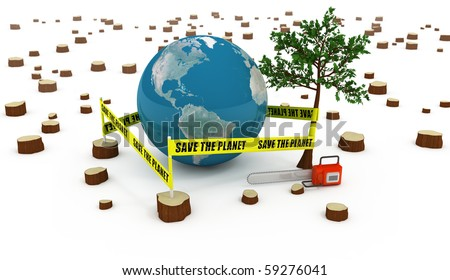 Save the Planet concept - stock photo