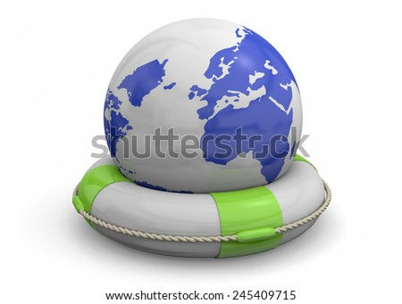 Save the World Concept 3D - stock photo