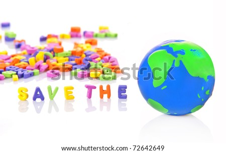 save the world, save the planet - stock photo