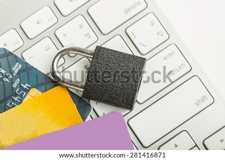 Save your payment online with white background. - stock photo