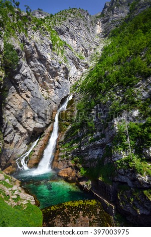 Savica waterfall, Triglav National park, Slovenia